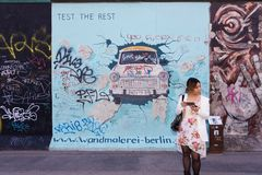 Berlin East Side Gallery artwork Stock Image