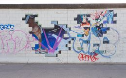 Berlin East Side Gallery artwork Royalty Free Stock Photography