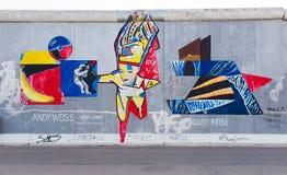 Berlin East Side Gallery-Grafik Lizenzfreie Stockbilder