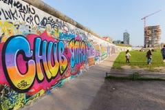 Berlin East Side Gallery-Grafik Lizenzfreie Stockfotos