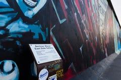 Berlin East Side Gallery-Grafik Stockbilder