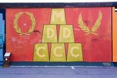 Berlin East Side Gallery-Grafik Lizenzfreies Stockbild