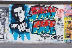 Berlin East Side Gallery-Grafik Stockfotografie
