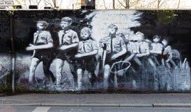 Berlin East Side Gallery-kunstwerk Royalty-vrije Stock Fotografie