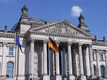 Berlin Federal Diet. Detailed view of the Bundestag (Federal Diet) former Reichstag in Berlin, Germany Stock Photo