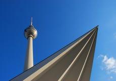 Berlin Fernsehkontrollturm Stockfotos