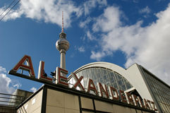 Berlin Fernsehturm Alexanderplatz station Stock Photography