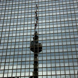 Berlin Fernsehturm, Berlin Fernseh-Turm Ost-Berlin Stockbild