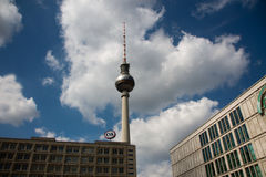 TV Tower Berlin Alexanderplatz Stock Images