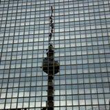 TV Tower Berlin mirror image Stock Image
