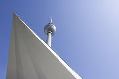 Berlin: Fernsehturm with triangle Royalty Free Stock Image