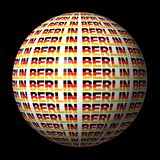 Berlin flag text sphere Stock Photos