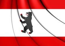 berlin flagga germany vektor illustrationer
