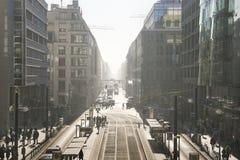 Berlin, Friedrichstrasse. The day begins. Royalty Free Stock Image