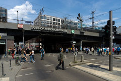 Berlin Friedrichstrasse-station Royalty-vrije Stock Afbeelding