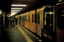 berlin gångtunnel Arkivfoton