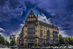 Berlin-Gebäude von Wohnungen Lizenzfreies Stockbild