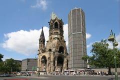 berlin gedachtniskirche Fotografering för Bildbyråer
