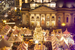 Berlin gendarmenmarkt christmas royalty free stock images