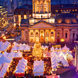 Berlin christmas Gendarmenmarkt Royalty Free Stock Photos