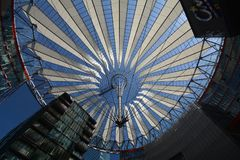Impressions from the Sony Center at Potsdam square, Potsdamer Platz in Berlin from June 1, 2017, Germany. Berlin, Germany – June 1, 2017 Impressions from royalty free stock photography