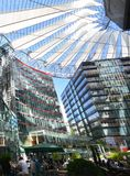Impressions from the Sony Center at Potsdam square, Potsdamer Platz in Berlin from June 1, 2017, Germany. Berlin, Germany – June 1, 2017 Impressions from royalty free stock photo