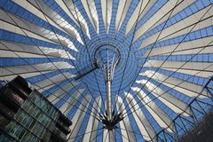 Impressions from the Sony Center at Potsdam square, Potsdamer Platz in Berlin from June 1, 2017, Germany. Berlin, Germany – June 1, 2017 Stock Images