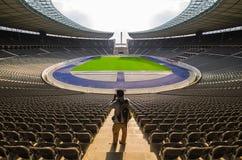 BERLIN, GERMANY, APIRL 17- View of  Berlin's Olympia Stadium bui. View of  Berlin's Olympia Stadium  APIRL 17, 2013, in Berlin, Germany Royalty Free Stock Images