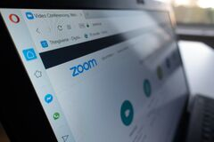 Free Berlin, Germany - April 13 2020:  Zoom.us Website. Zoom Video Communications, Inc., Is An American Remote Conferencing Services Stock Images - 183426554