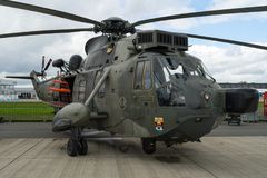 Anti-submarine warfare, search and rescue and utility helicopter Sikorsky SH-3 Sea King. Royalty Free Stock Images