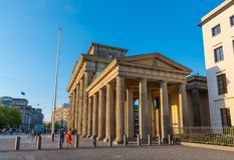 The Brandenburg Gate in Berlin Germany. Berlin Germany - April 20. 2018: The Brandenburg Gate royalty free stock photos