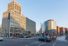 City life at Potsdamer platz royalty free stock photography