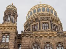 Dome of the Neue Synagoge, New Synagogue, in Berlin, Germany royalty free stock image