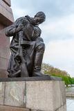 BERLIN, GERMANY - APRIL 2, 2008: The monument to Soviet soldiers Stock Photos