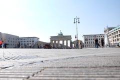 Brandenburg Gate Berlin with Blue Sky stock image