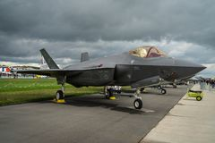 BERLIN, GERMANY - APRIL 26, 2018: Stealth multirole fighter Lock Royalty Free Stock Photos