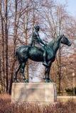 Women on horse statue, Amazone zu Pferde  Amazon on horseback. Berlin,Germany - april 2018: Women on horse statue, Amazone zu Pferde  Amazon on horseback in Stock Image
