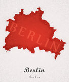 Berlin Germany Art Map Fotografia Stock Libera da Diritti
