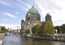 Berlin,Germany-august 27:Cathedral Dome on the Bank of river Spree from Berlin in Germany Stock Photo