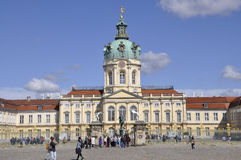 Berlin,Germany-august 27:Chalottenburg Palace from Berlin in Germany stock photo