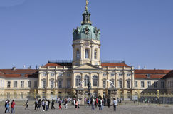 Berlin,Germany-august 27:Chalottenburg Palace from Berlin in Germany royalty free stock photo