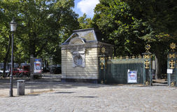 Berlin,Germany-august 27:Chalottenburg Palace fence from Berlin in Germany Stock Photography