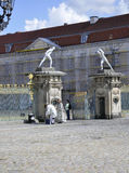 Berlin,Germany-august 27:Charlottenburg Palace entrance from Berlin in Germany Royalty Free Stock Photos