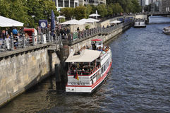 Berlin,Germany-august 27:Cruisse on river Spree from Berlin in Germany Royalty Free Stock Image