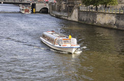 Berlin,Germany-august 27:Cruisse on river Spree from Berlin in Germany royalty free stock photo