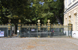 Berlin,Germany-august 27:The fence of Charlottenburg Palace from Berlin in Germany stock photography