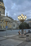Berlin,Germany-august 27:Franzosischer Dome plaza in the evening from Berlin in Germany Stock Image