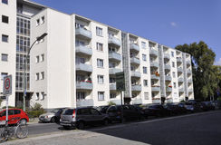 Berlin,Germany-august 27:Modern Apartment Building from Berlin in Germany Stock Photos