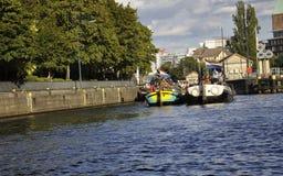 Berlin,Germany-august 27:River Spree landscape from Berlin in Germany Stock Photos