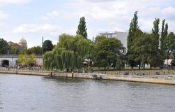 Berlin,Germany-august 27:River Spree landscape from Berlin in Germany Stock Photography